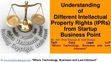 Different Intellectual Property Rights from Startup Business Point of View