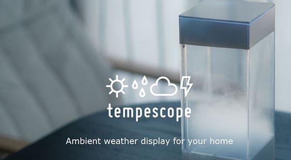 Tempescope - صندوق من المطر في غرفة المعيشة الخاصة بك