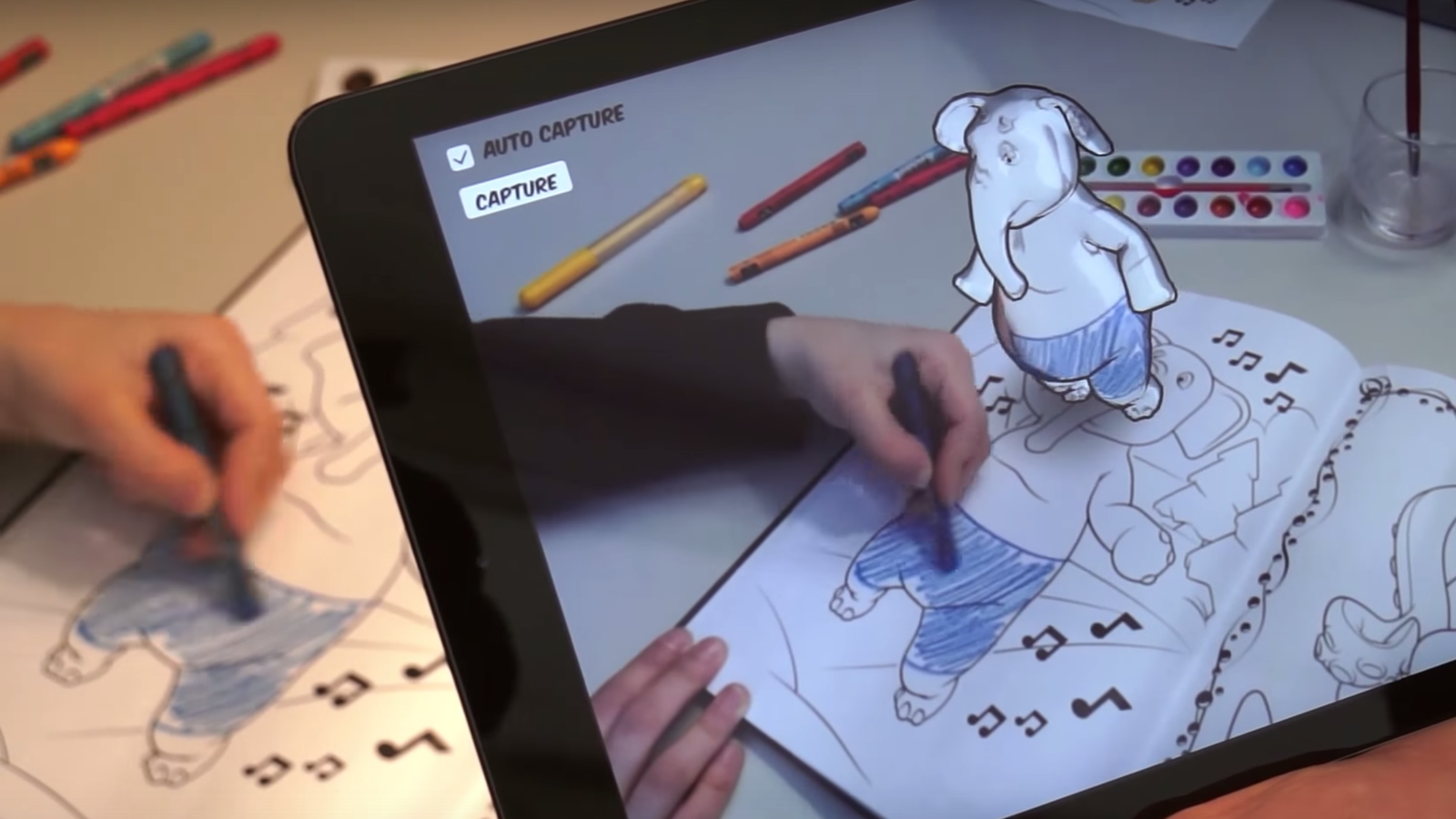 Augmented Reality Coloring Application