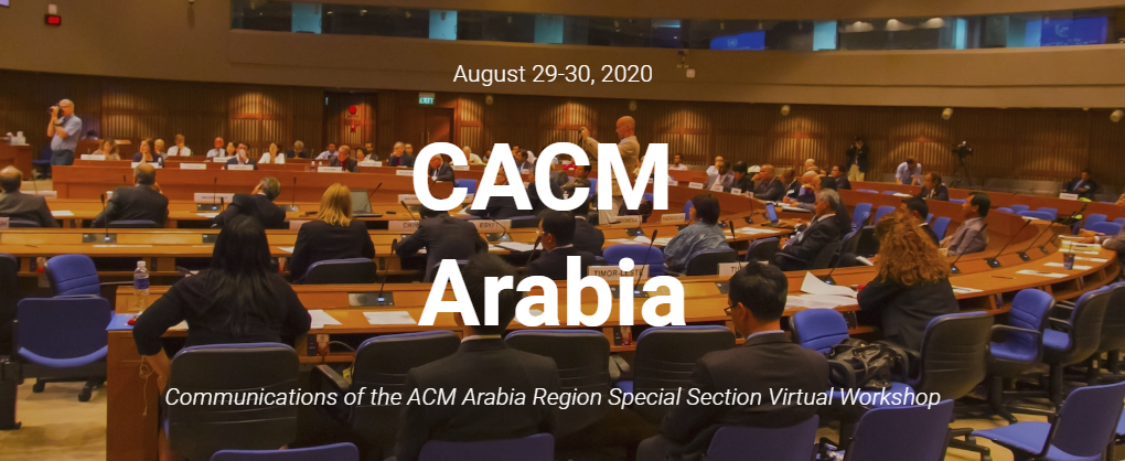 Virtual Workshop of CACM Arabia Region Special Section
