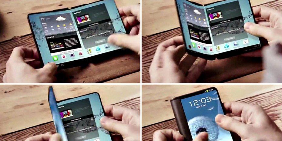 شاشات الهواتف الذكية الملفوفة