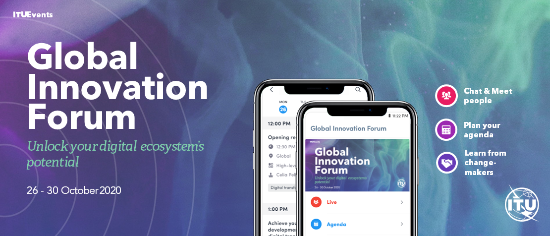 ITU Global Innovation Forum to take place online 26-30 Oct