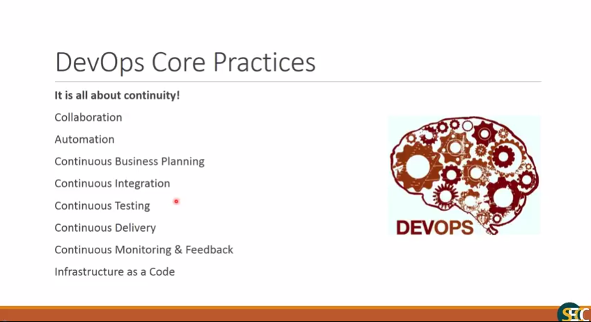 SECC Webinar: Introduction to DevOps