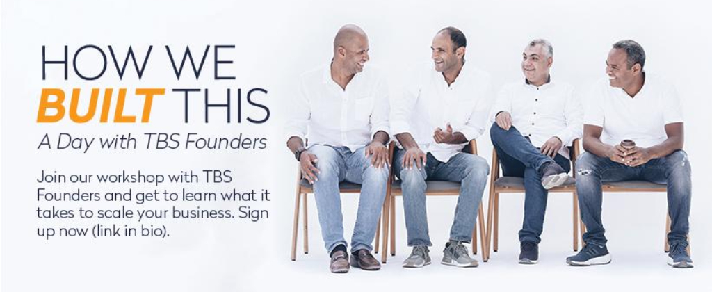 TBS founders are calling out to all entrepreneurs: don't miss 'How We Built This' Workshop!