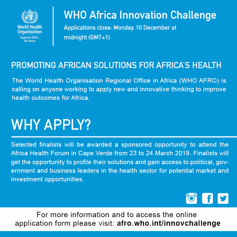 WHO Africa Innovation Challenge | EgyptInnovate