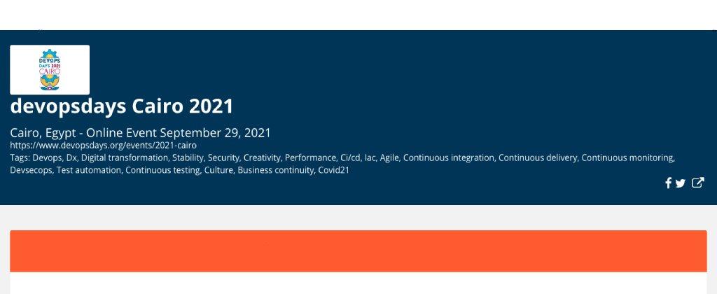 Register Now to attend DevOpsDays Cairo 2021