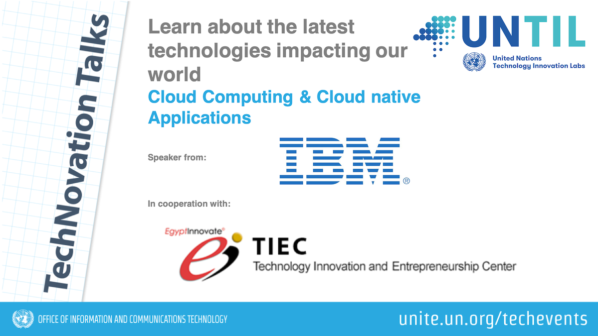 TechNovation Talk: Cloud Computing and Cloud Native Applications