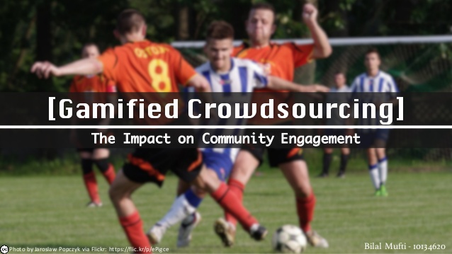 Gamified Crowdsourcing: The impact CommunityEngagement