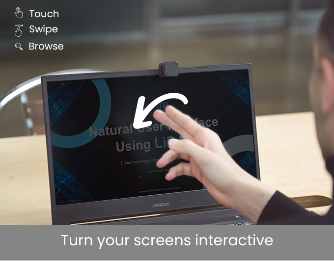 Glamos - تحويل أي شاشة إلى شاشة تفاعلية