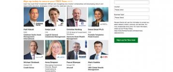 Reuters Events: Join the world's leading Chief Investment Officers – Legal & General, Amundi, Credit Suisse, UBS and many more!