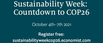 Meet the change makers at Sustainability Week: Countdown to COP26 on October 4th-7th 2021