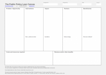 Innovation Policy Lean Canvas