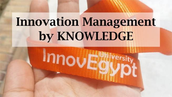 Training Kit for Innovation & Technology Management – InnovEgypt Program by KNOWLEDGE