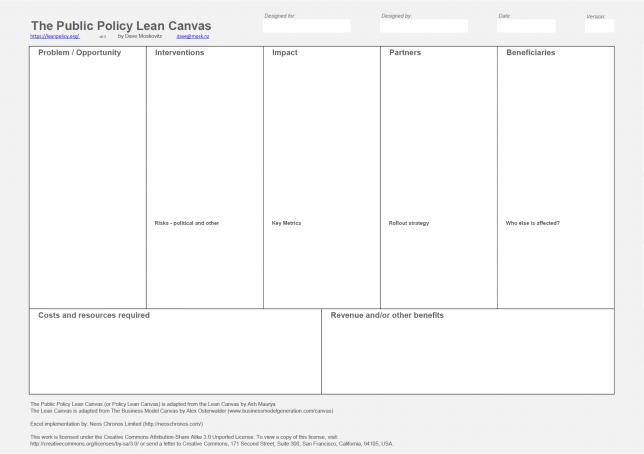 النموذج المرن لصياغة السياسات الخاصة بالابتكار