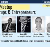 لقاءًا لرواد الأعمال والشركات الناشئة عن التكنولوجيا المالية