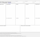 The Public Policy Lean Canvas
