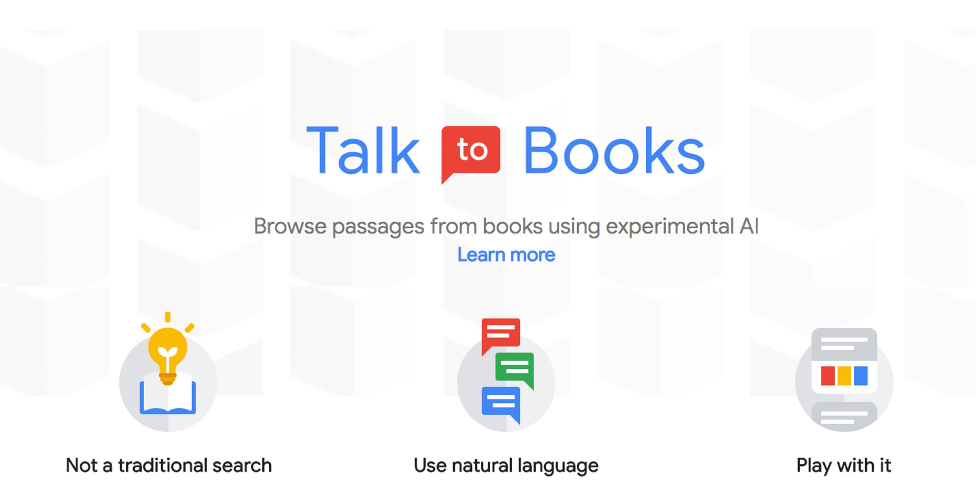 أداة التحدث للكتب من جوجل Talk To Books